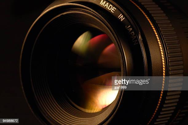 camera lens close-up - lens optical instrument stock photos and pictures
