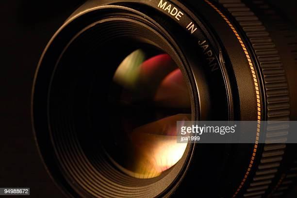 Lentille de la caméra gros plan