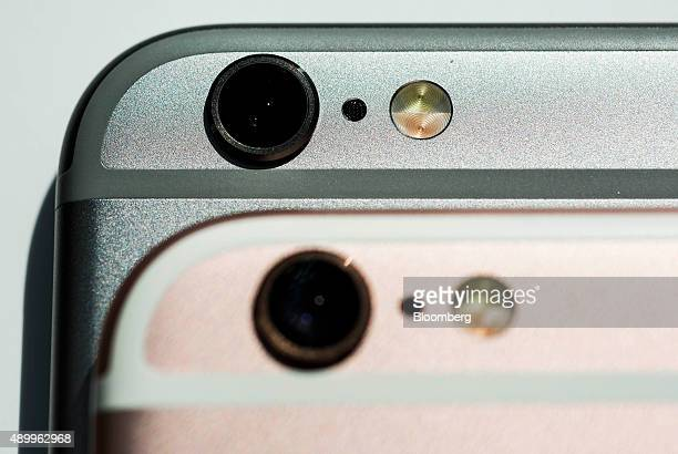 Camera lens components of an Apple Inc iPhone 6s smartphones are seen in an arranged photograph in Hong Kong China on Friday Sept 25 2015 The latest...