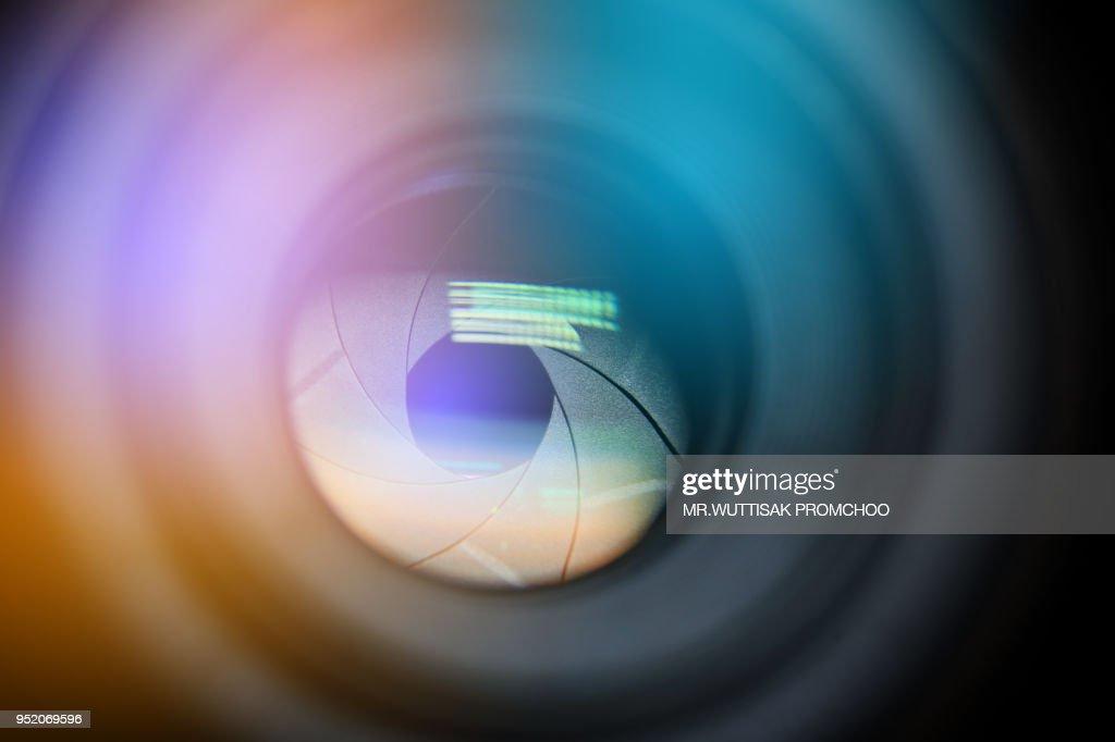camera lens.digital camera lens close up. : Stock Photo