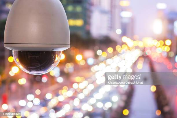 cctv  camera new technology for checking speed of cars on high way street and check for safe accidence on street are signal of counting by cctv system,cctv - big brother orwellian concept stock pictures, royalty-free photos & images