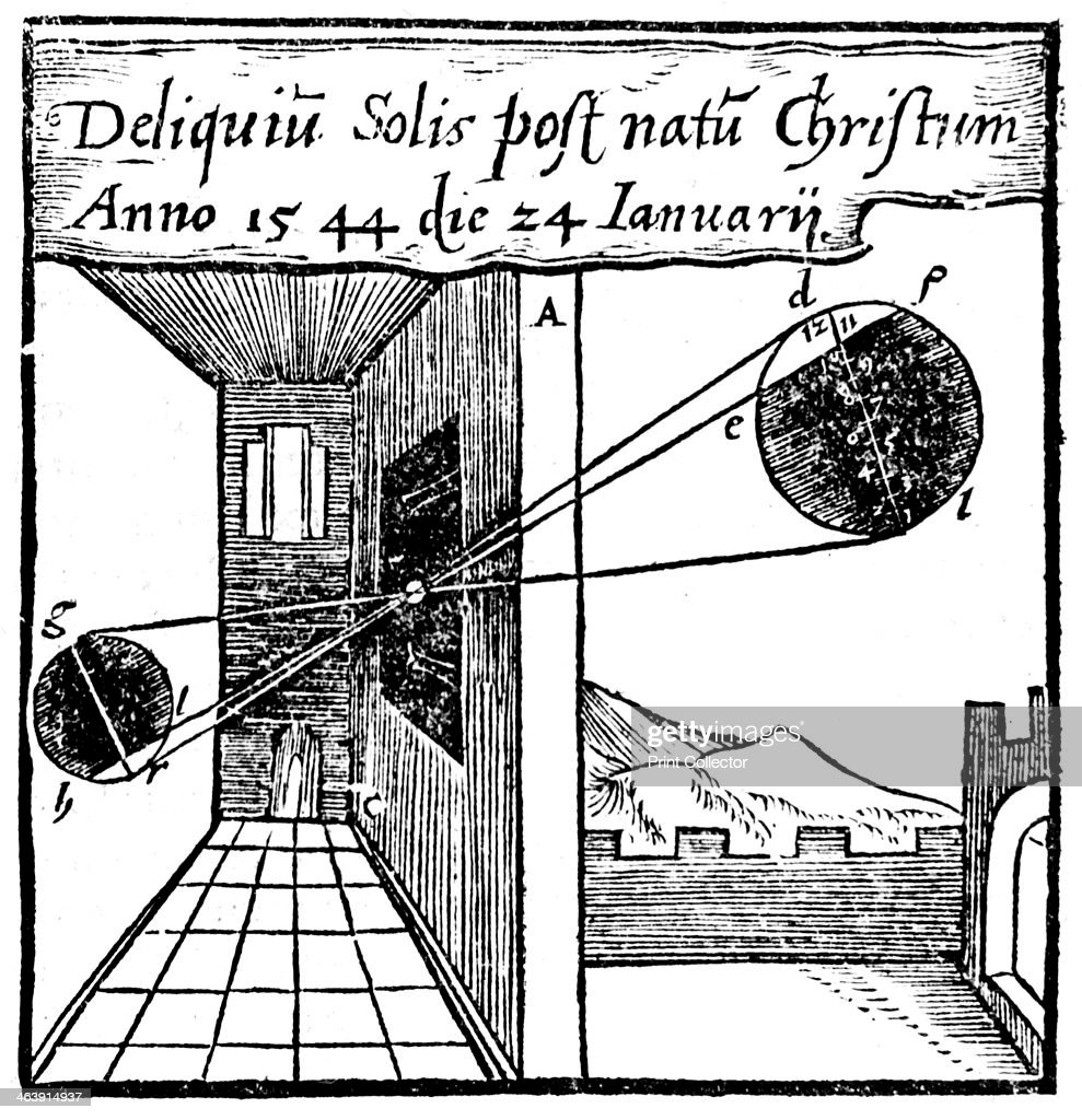 camera obscura  1561  projecting a solar eclipse into a