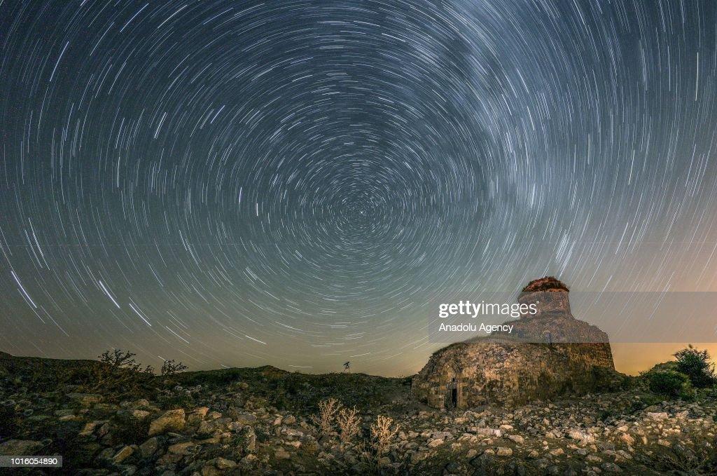 Perseid meteor shower in Turkey's Van : News Photo
