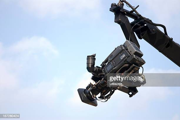 camera on crane or jib - cameraman stock photos and pictures