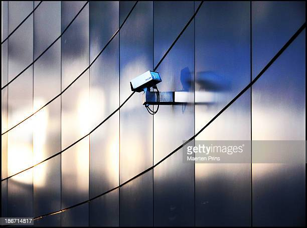 Camera on metal wall in Amsterdam 2008