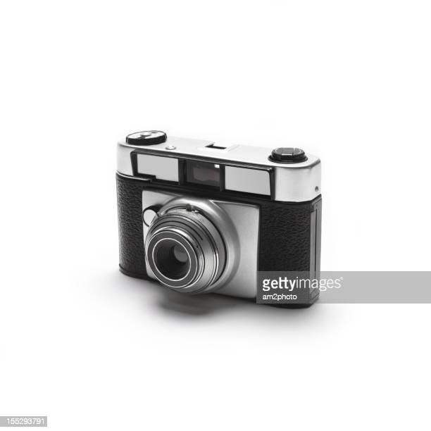 Camera on white background.