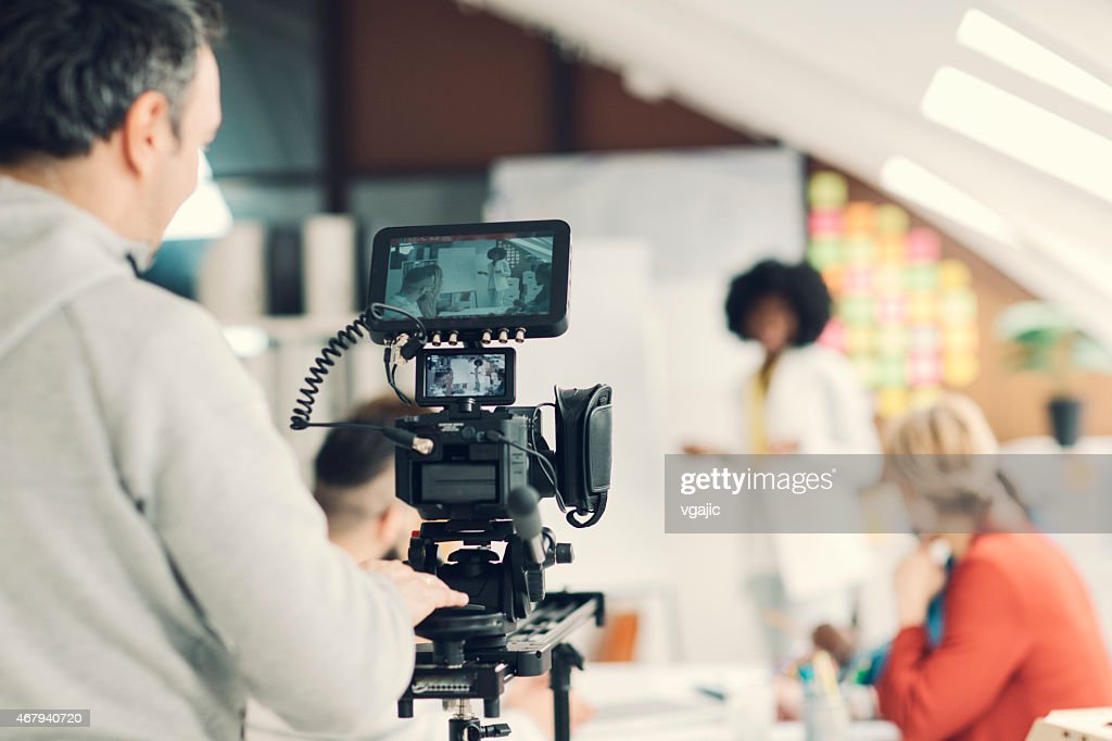 Kamerabedienung Arbeit. : Stock-Foto