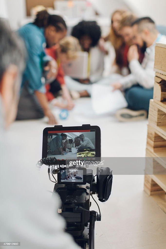 Camera Operator At Work. : Stockfoto