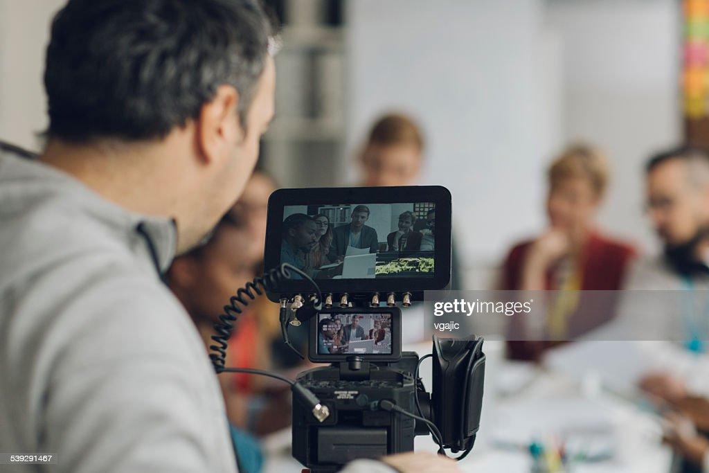 Camera Operator At Work. : Stock Photo