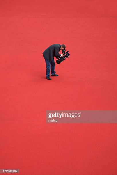 Camera operator on red carpet