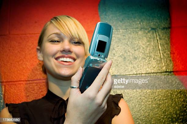 Camera Phone with Young Woman