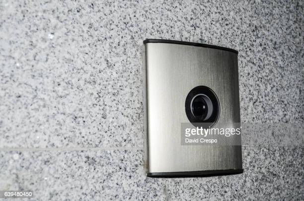 camera - door bell stock photos and pictures
