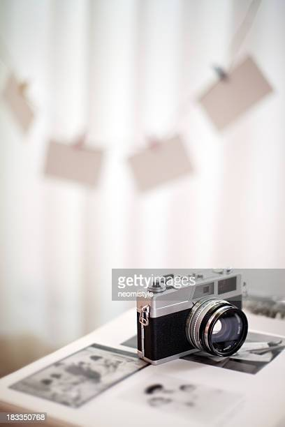 Camera sitting in white studio