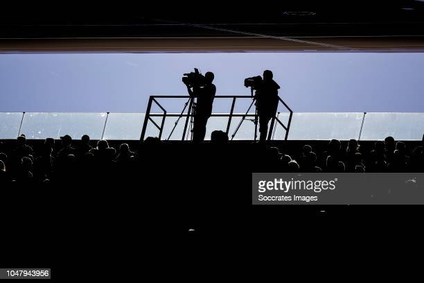 camera tv of MediaPro during the La Liga Santander match between Atletico Madrid v Real Betis Sevilla at the Estadio Wanda Metropolitano on October 7...