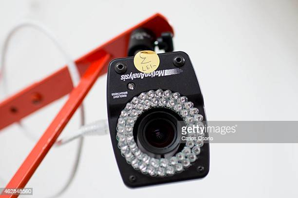 A camera used for the 3D motion capture system at The Performance Lab in North York on February 2 2015 Sports parents are spending big money on...
