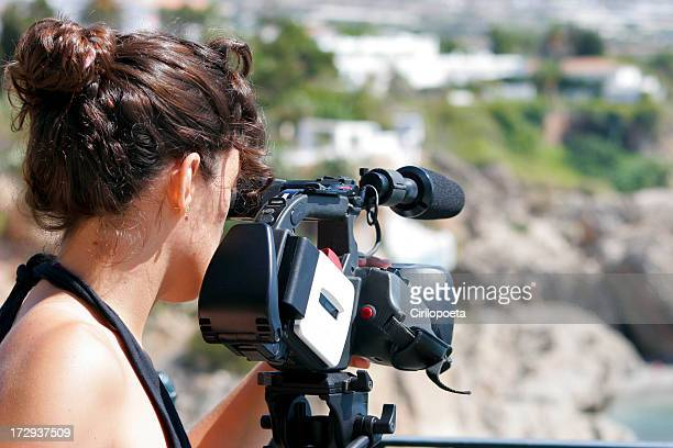 Photo de femme en action
