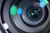 Camera Zoom Lens Zooming In Or Out To Focus A Sharp Image And To Capture A Photograph Or Video