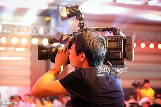 cameraman at work - cameraman stock photos and pictures