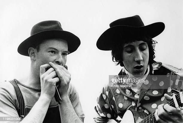 Cameraman Chris Morphet and Pete Townshend of The Who during the making of the film 'The Lone Ranger' United Kingdom 1968