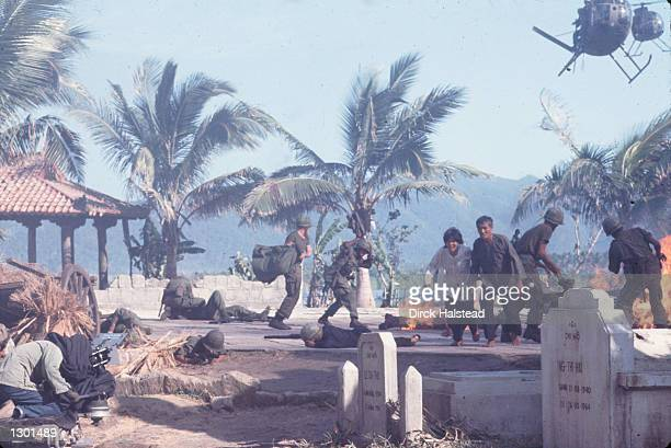 A cameraman films a take On the set of Francis Ford Coppola's Vietnam War epic Apocalypse Now April 28 1976 in Baler Philippines The new director's...