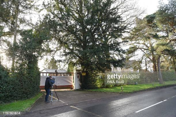 A cameraman films at the front of the home of Manchester United executive vicechairman Ed Woodward in the village of Lower Peover near Knutsford...