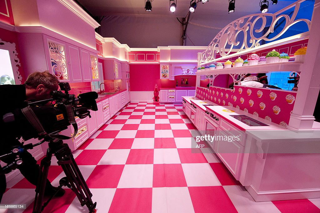 A Cameraman Films The Pink Kitchen At So Called Barbie Dreamhouse