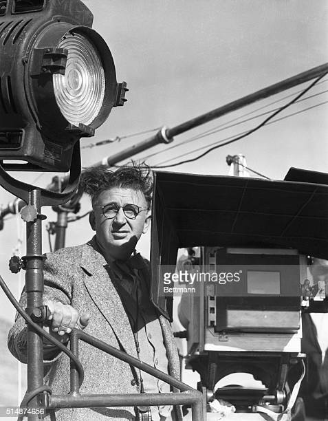 Cameraman Karl Freund photographed by a candid cameraman while working on the Parnell set new MetroGoldwynMayer picture starring Clark Gable and...