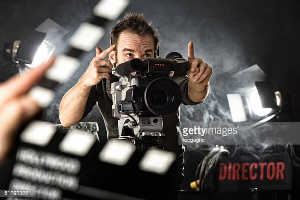 cameraman on set - cinematographer stock pictures, royalty-free photos & images