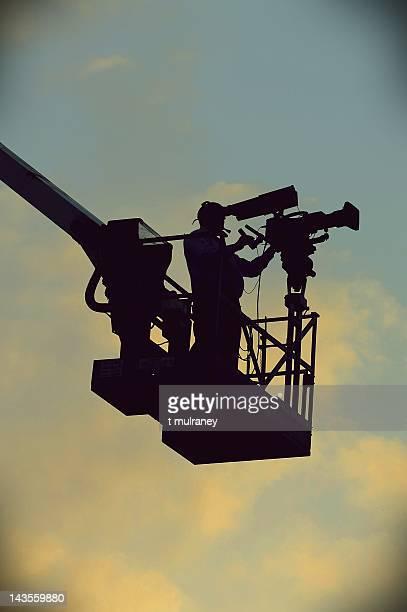 Cameraman photographing