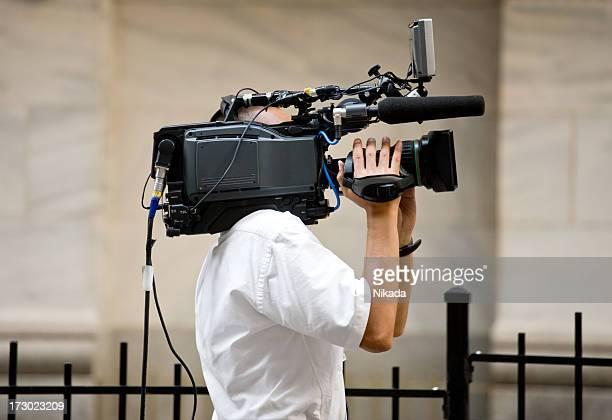 cameraman - journalist stockfoto's en -beelden