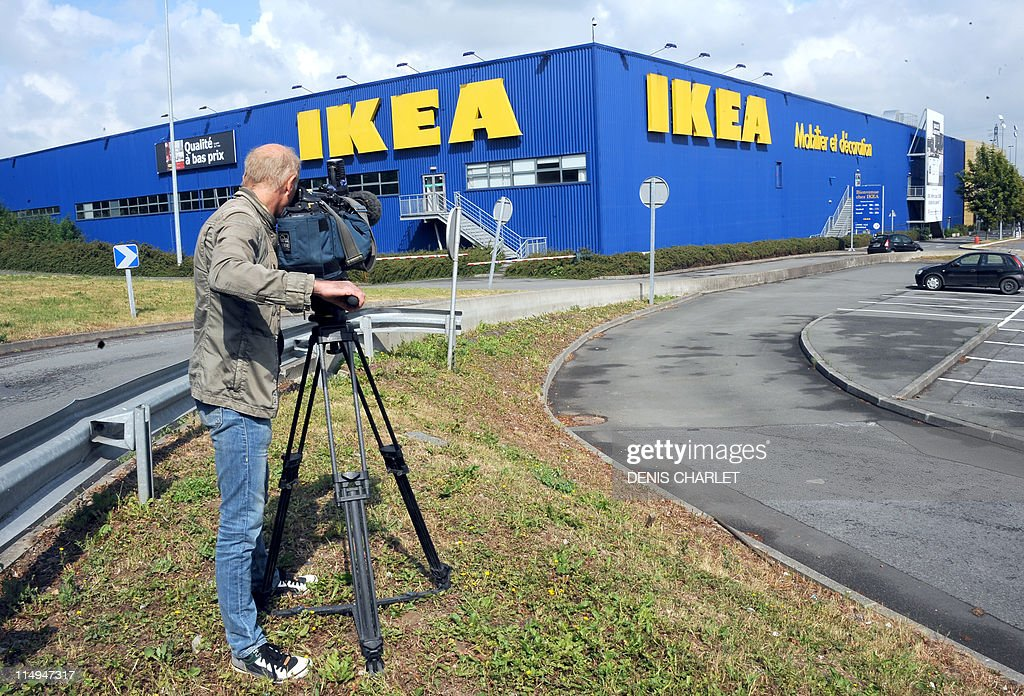 a cameraman stands in front of an ikea store on may 31 2011 in news photo getty images. Black Bedroom Furniture Sets. Home Design Ideas