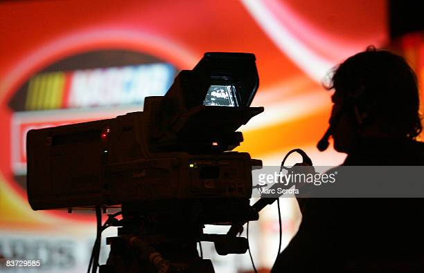 Cameraman works at the NASCAR Craftsman Truck Series Awards Banquet on November 17, 2008 in Hollywood, Florida.