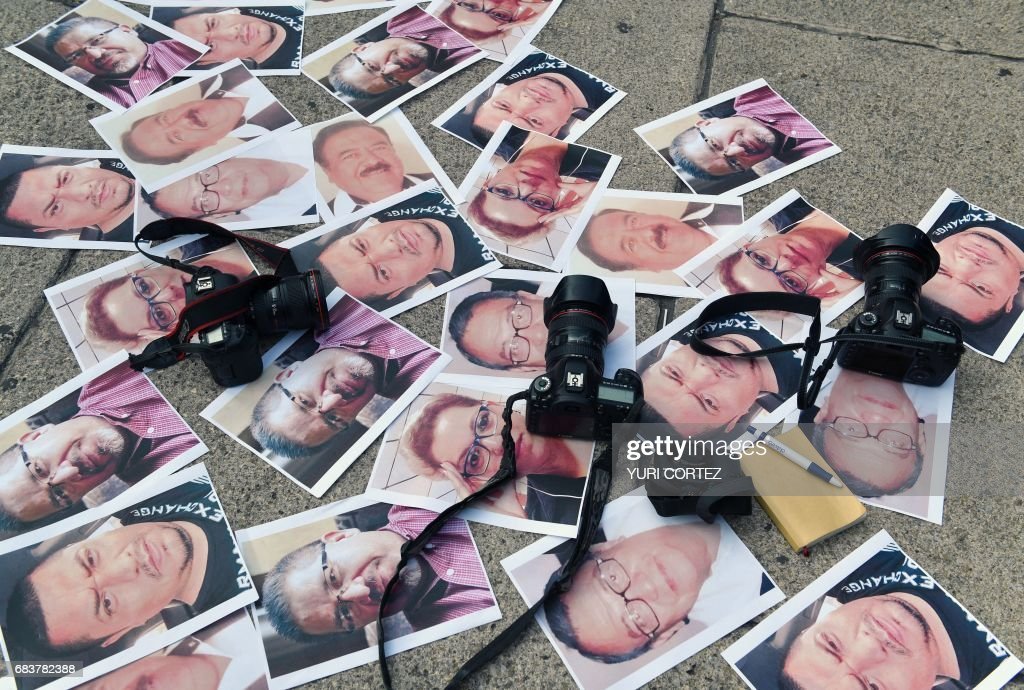 TOPSHOT-MEXICO-VIOLENCE-JOURNALISTS-MURDERS : News Photo