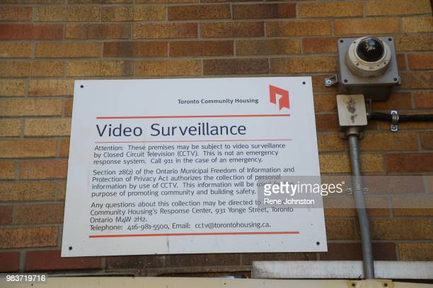 TORONTO ON Cameras are all over the housing complex but early reports are some have been blacked out by paint Police are investigating after an...