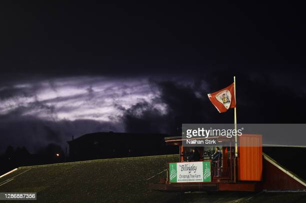 Cameras are seen filming the Sky Bet Championship match between Barnsley and Nottingham Forest at Oakwell Stadium on November 21, 2020 in Barnsley,...