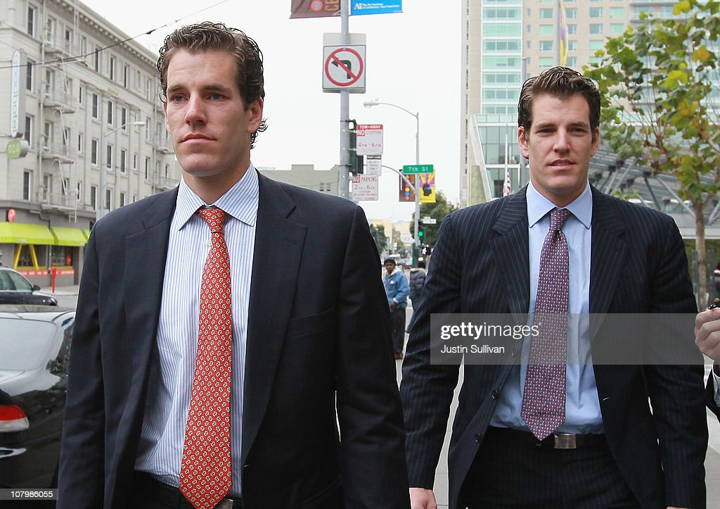 Winklevoss Twins Appear In Court To Ask Judge To Void Previous Settlement In Case Against Facebook : News Photo