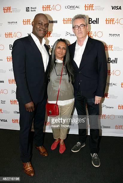 Cameron Bailey, Artistic Director of the Toronto International Film Festival, Director Deepa Mehta and Piers Handling, CEO of the Toronto...