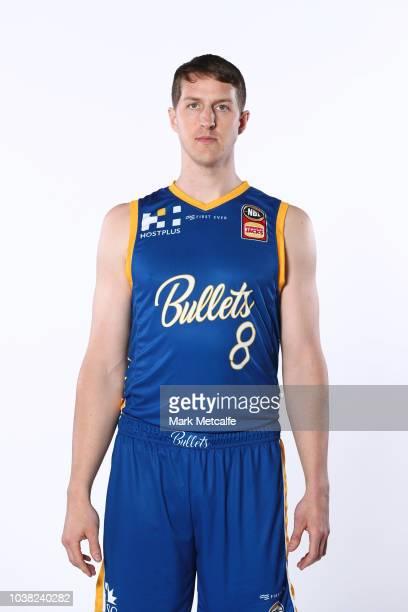 Cameron Bairstow of Brisbane Bullets poses during the 2018/19 NBL media day at Bendigo Stadium on September 21 2018 in Bendigo Australia