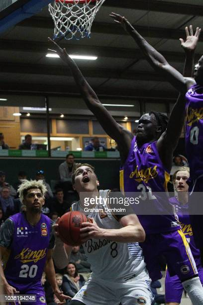 Cameron Bairstow of the Brisbane Bullets shoots during the 2018 NBL Blitz match between Sydney Kings and Brisbane Bullets at Ballarat Minerdrome on...