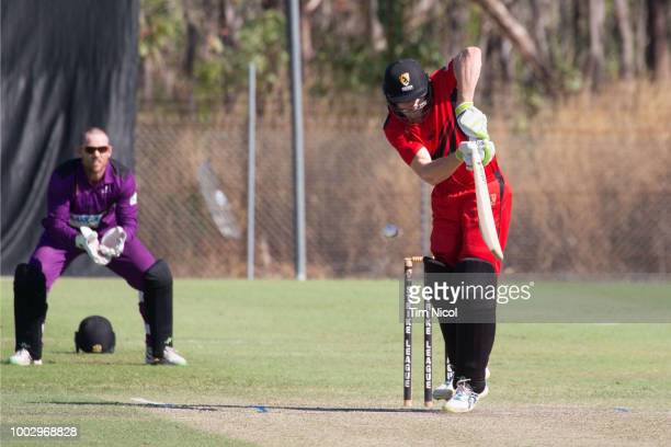 Cameron Bancroft competes in the NT Strike League match between the Desert Blaze and the Southern Storm at Marrara Oval on July 21 2018 in Darwin...