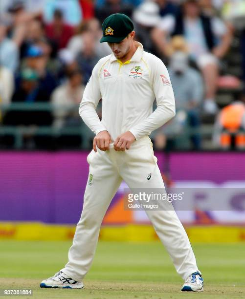 Cameron Bancroft of Australia adjusts the front of his trousers during day 3 of the 3rd Sunfoil Test match between South Africa and Australia at PPC...