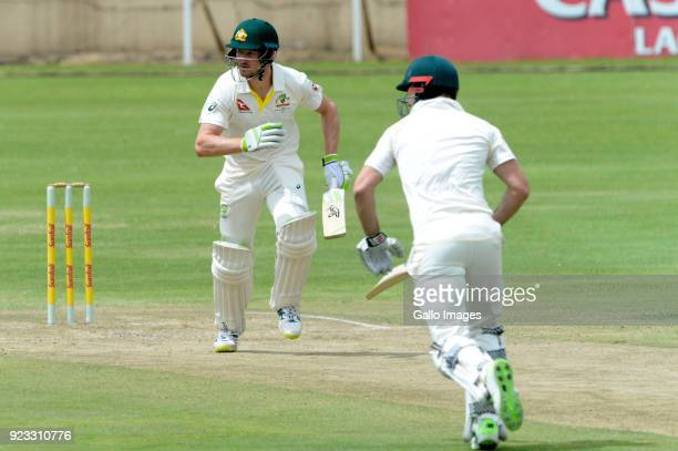 Cameron Bancroft of Australia during day 2 of the Tour match between South Africa A and Australia at Sahara Park Willowmoore on February 23 2018 in...