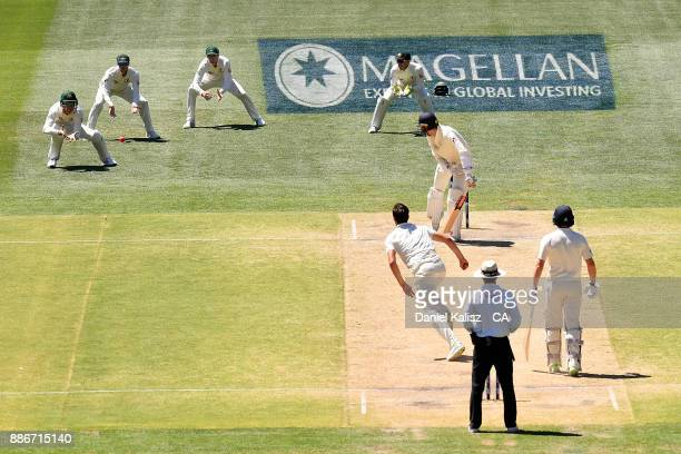 Cameron Bancroft of Australia fields during day five of the Second Test match during the 2017/18 Ashes Series between Australia and England at...