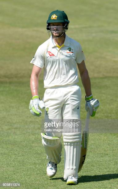 Cameron Bancroft of Australia out for 5 runs during day 1 of the 1st Sunfoil Test match between South Africa and Australia at Sahara Stadium...