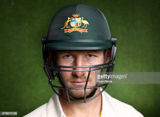 Cameron Bancroft of Australia poses during a portrait session ahead of his Test Debut at The Gabba on November 21 2017 in Brisbane Australia