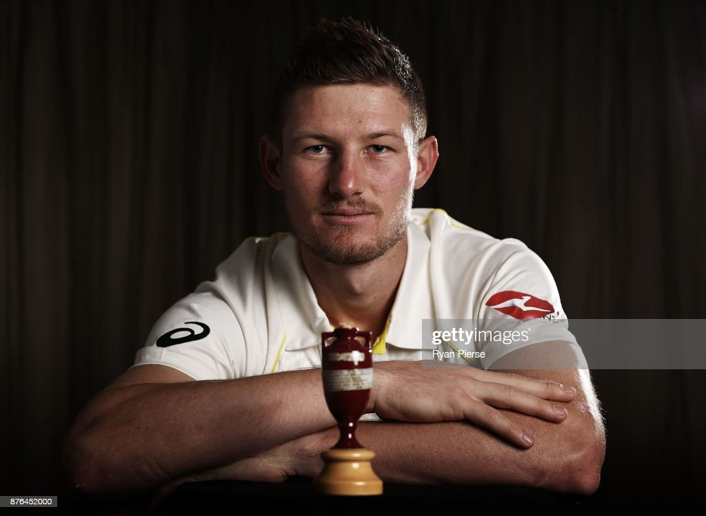 Cameron Bancroft of Australia poses during the Australia Test cricket team portrait session on November 20, 2017 in Brisbane, Australia.