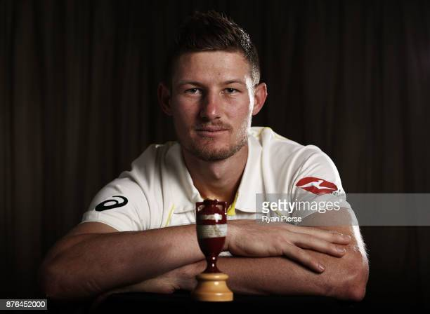 Cameron Bancroft of Australia poses during the Australia Test cricket team portrait session on November 20 2017 in Brisbane Australia