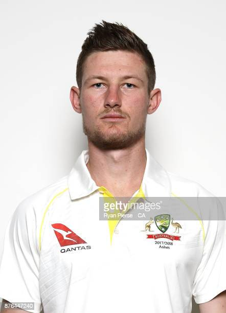 Cameron Bancroft of Australia poses during the Australia Test Team Headshots Session on November 20 2017 in Brisbane Australia
