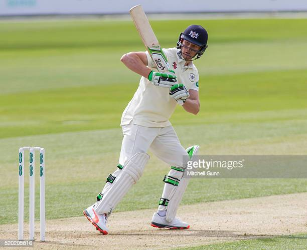 Cameron Bancroft of Gloucestershire batting during the Specsavers County Championship match between Essex and Gloucestershire at the County Ground on...