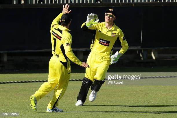 Cameron Bancroft of the Warriors takes a catch to dismiss Dan Christian of the Bushrangers during the JLT One Day Cup match between Victoria and...